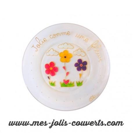 Assiette Fleur