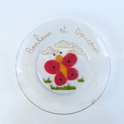 Assiette Papillon